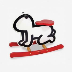 Keith Haring Rocking Horse White