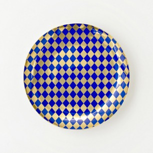 ARTLAVIE菱形金兰古瓷盘
