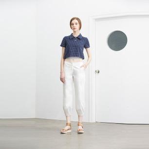 Simply Grid 深蓝格双层短衬衫