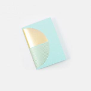 几何拼图笔记本-薄荷绿+金