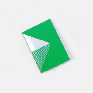 几何拼图笔记本-绿+银
