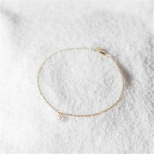 简约18K金珍珠手链 莹 | 18k金 天然海水白珍珠