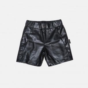 南韩皮质休闲运动短裤