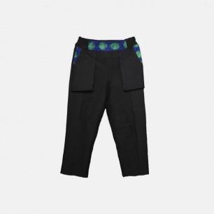 中性武士系列直筒复古花纹休闲八分裤