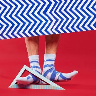 几何迷彩涂鸦袜子(女款)