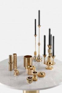 黄铜齿轮系列烛台 | 坚固的黄铜打造 齿轮灵感设计(中号)