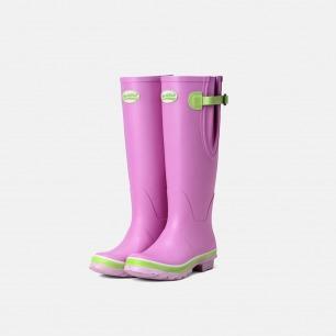 英伦高筒马卡龙粉色雨靴