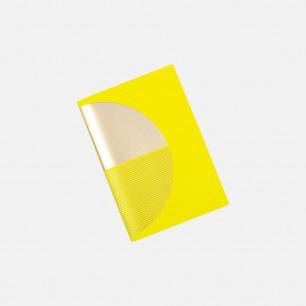 几何拼图笔记本 黄+金