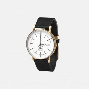 极简主义手表 TIDE 金色