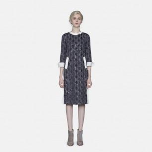 起绒蕾丝礼服连衣裙 | 轻奢时装设计师原创打造