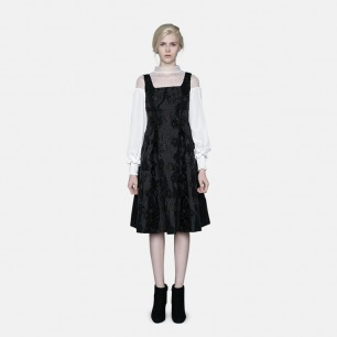 华丽提花无袖礼服连衣裙 | 轻奢时装设计师原创打造