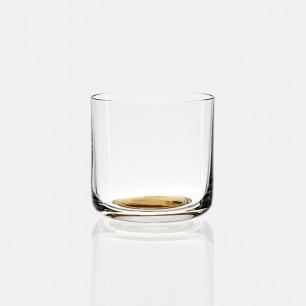 极简金底玻璃杯 低水杯款 | 北欧风 轻薄水晶玻璃材质