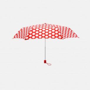 复古波点三折晴雨伞 | 超轻便携 仅重165g【蔷薇红/爱琴海蓝】