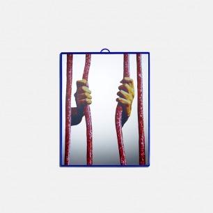 黑色幽默艺术镜子 Jail款 | Toiletpaper系列 30x40cm