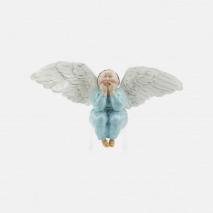 节庆女天使-天蓝色  | 艺术家瞿广慈雕塑作品