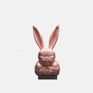 兔男郎Ⅰ-粉色版 | 艺术家瞿广慈雕塑作品