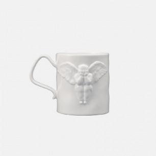 瞿广慈 浮雕天使骨瓷杯2-白
