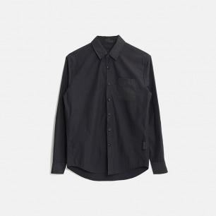 拼接修身全棉长袖衬衫