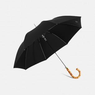 纯黑绅士雨伞 寒竹竹节柄 | 优雅复古 品质之选