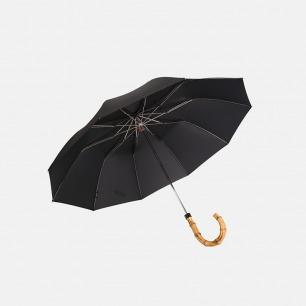 竹节手柄 黑色自动 绅士雨伞