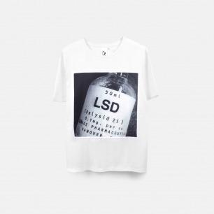 LSD 男士纯棉精梳双丝光T恤 白色