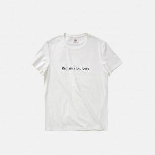 新款  全棉圆领短袖T恤 Remain a bit loose/保持一点逍遥
