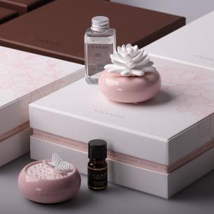 玫瑰花园 家居/车载女士陶瓷香氛礼盒