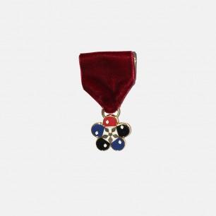 乒乓花型徽章 Pingpong Flower Badge