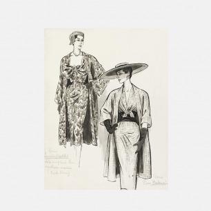 裙子和外套素描-装饰画【定制品 15个工作日内发货】   独立摩登女郎 永恒经典