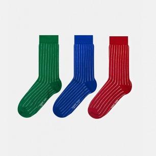 英伦中筒袜细竖条组合A款