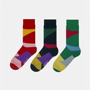 英伦中筒袜迷彩组合B款