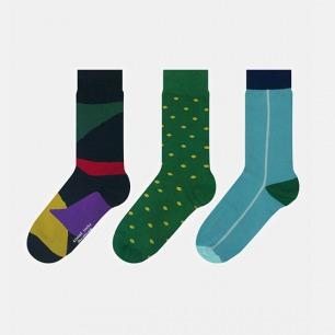 英伦中筒袜 混搭礼盒B款 | 色彩大胆丰富 男女同款