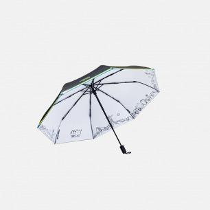 巴西风情 黑胶防晒晴雨伞