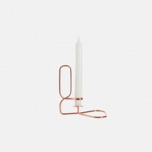 极简主义设计 铜丝蜡烛托