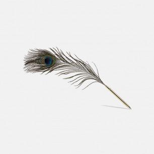 天然孔羽黄铜 圆珠笔 | 羽毛为真毛非人造 大胆前卫