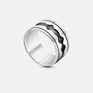 情话定制双波带复古戒指 | Soundwave V