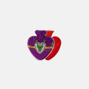 德国进口品牌fashy 紫色麋鹿套心形pvc热水袋 暖水袋