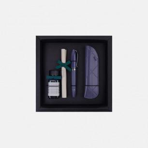 安迪系列钢笔笔套墨水礼盒 灰蓝