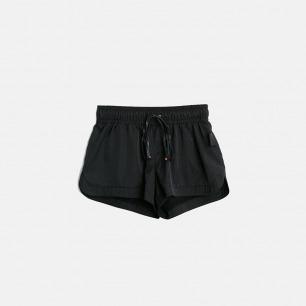 橡筋绑带松紧短裤
