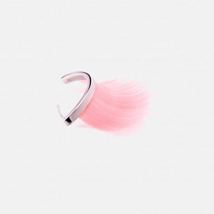 粉红色少女睫毛耳环 (单只)