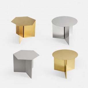 折纸几何形金属边桌茶几