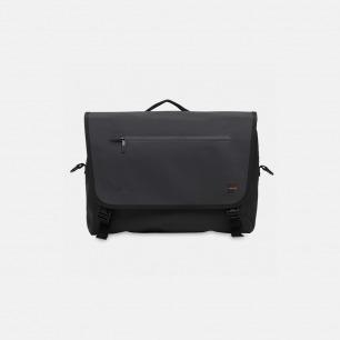 【KNOMO】Rupert Laptop Messenger 双面涂层涤纶面料 防水防尘大容量单肩包(黑色/灰色)