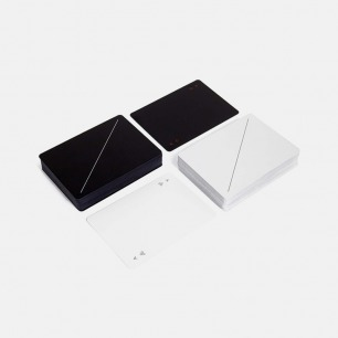 美国Areaware黑白扑克   极简风格设计 PVC材质防水耐用
