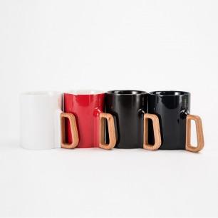 木把手的马克杯 别有质感 | 珍稀高白泥打造 四色可选