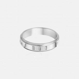 闪耀晶石材质点缀 Morse LOVE系列镶晶石戒指
