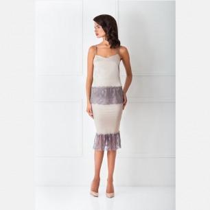 Amoralle皇室奢华 丝绸吊带半身裙套装