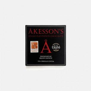 英国Akesson's 75%Criollo马达加斯加单源黑巧克力