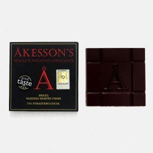英国Akesson's 75%Forastero巴西单源黑巧克力