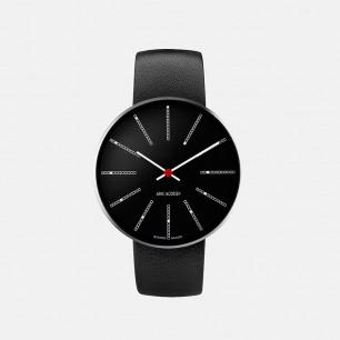丹麦传奇设计师心水之作 bankers系列极简腕表 黑色表盘