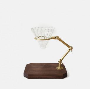 复古黄铜 北美黑胡桃 咖啡手冲架套组 | 遵循复古风格改良实用设计
